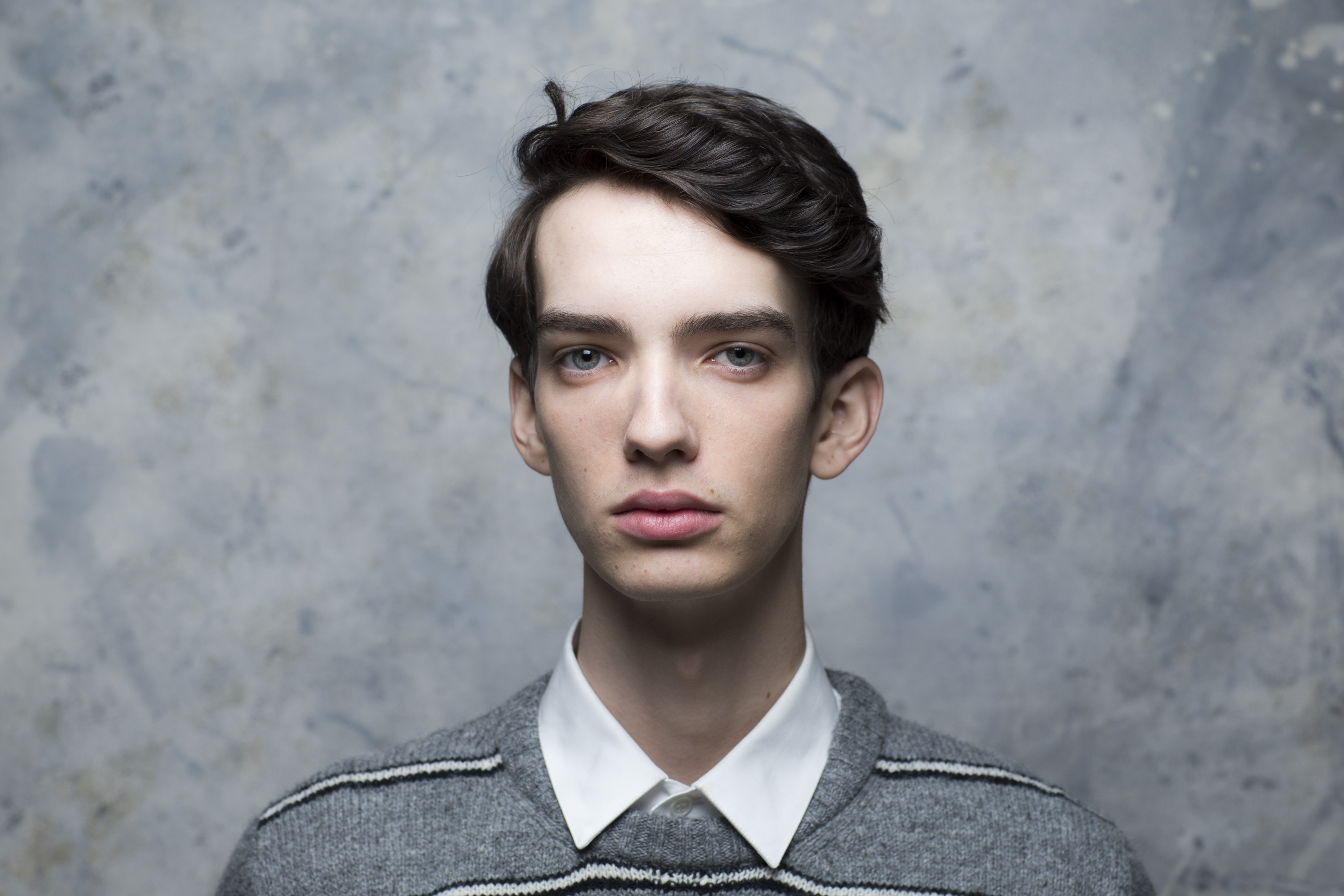 "PARK CITY, CA --JANUARY 24, 2015--Kodi Smit-McPhee, with the film, ""Slow West,"" photographed in the L.A. Times photo & video studio at the Sundance Film Festival, Jan. 24, 2015. (Jay L. Clendenin/Los Angeles Times)"
