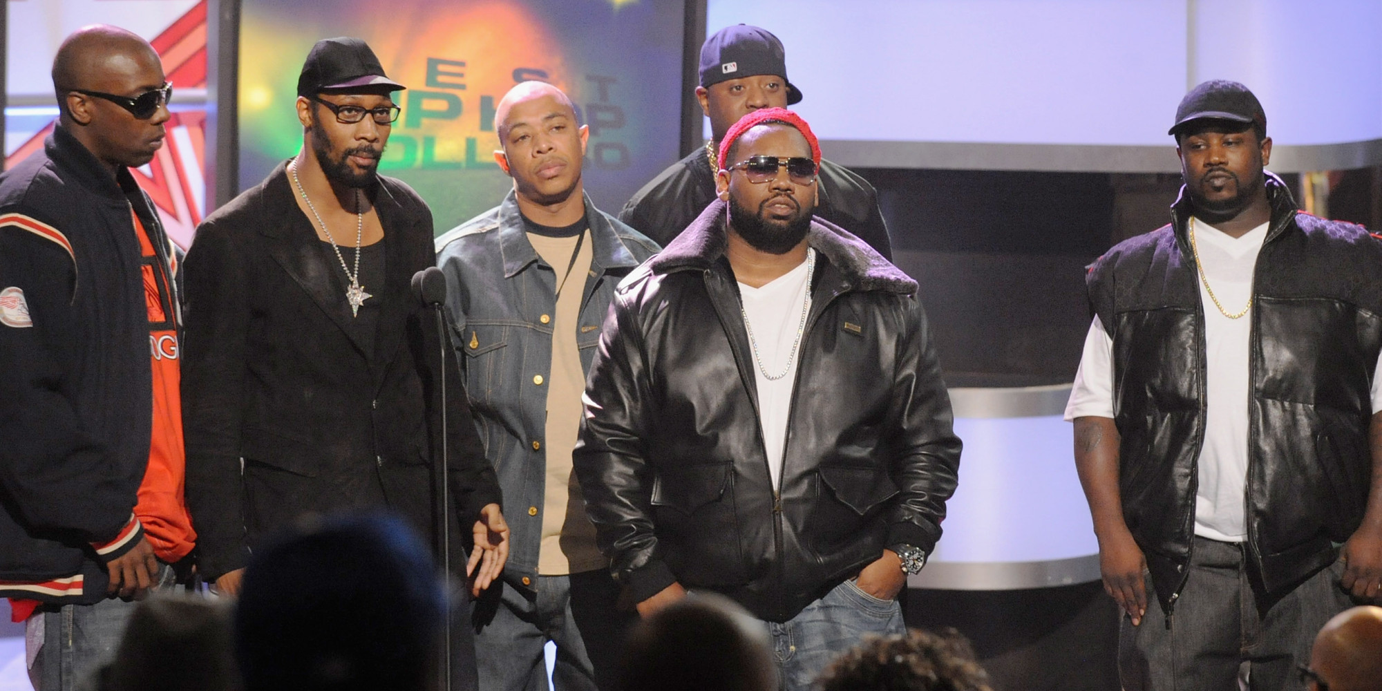 ATLANTA - OCTOBER 18:  Recording artists Inspectah Deck, The RZA, U-God and Raekwon of Wu-Tang Clan onstage during the 2008 BET Hip-Hop Awards at The Boisfeuillet Jones Atlanta Civic Center on October 18, 2008 in Atlanta, Georgia.  (Photo by Rick Diamond/Getty Images for BET)