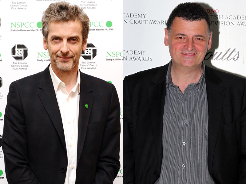 Peter Capaldi pictured left, Steven Moffat pictured right.