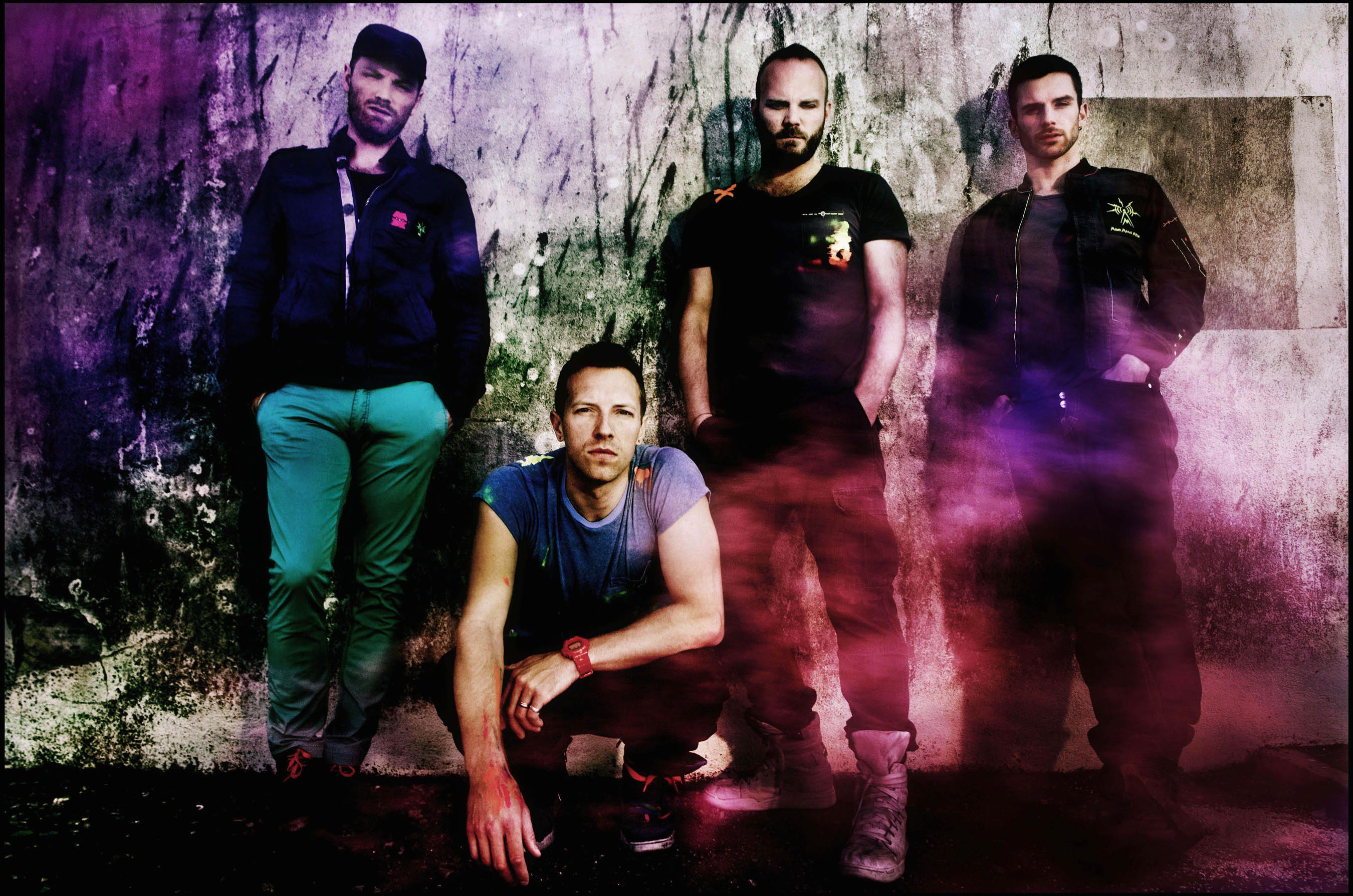 Coldplay photographed in San Francisco