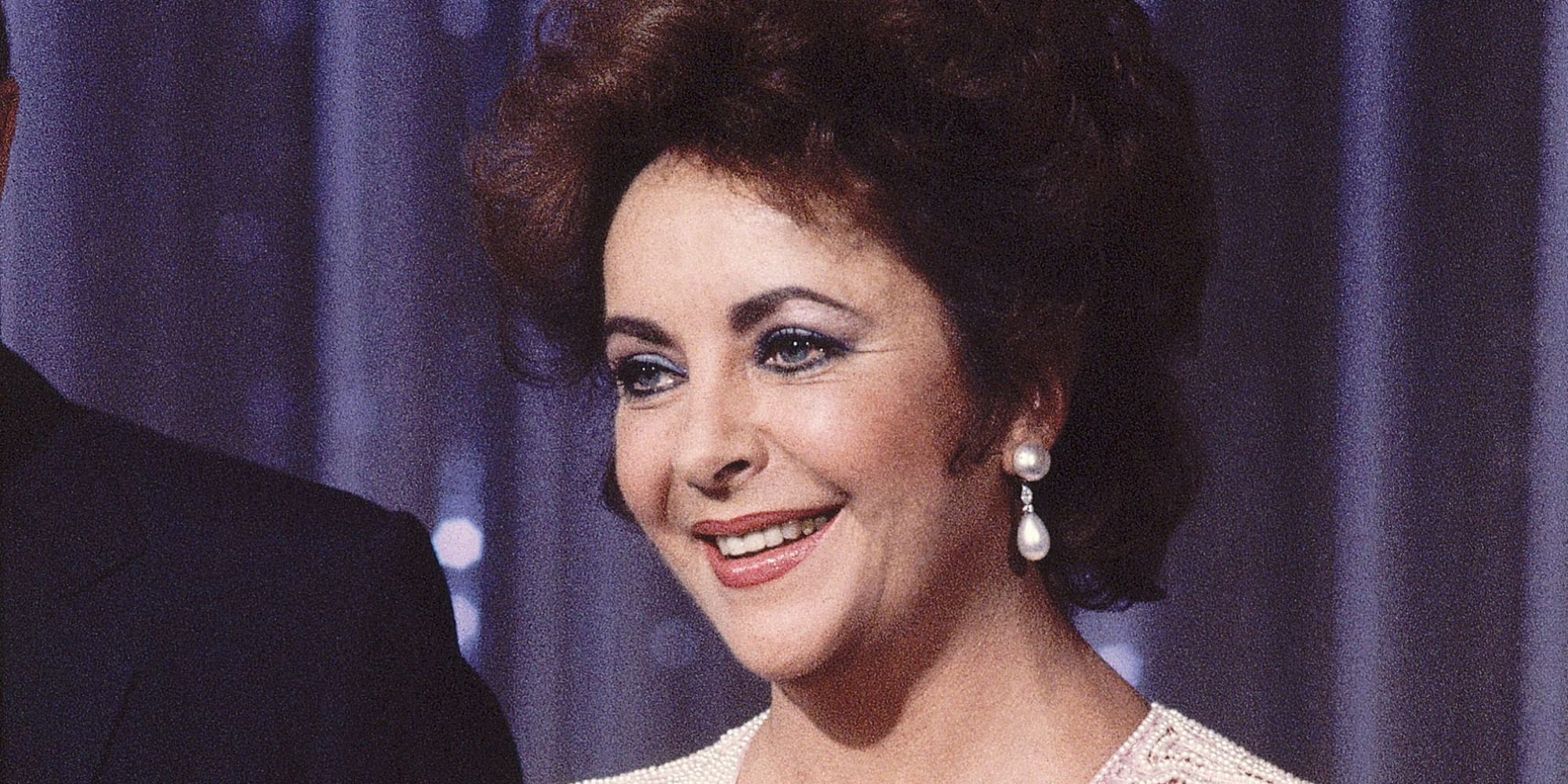 Actress Elizabeth Taylor on Bob Hope TV special on Sept. 13, 1982. (AP Photo/Reed Saxon)