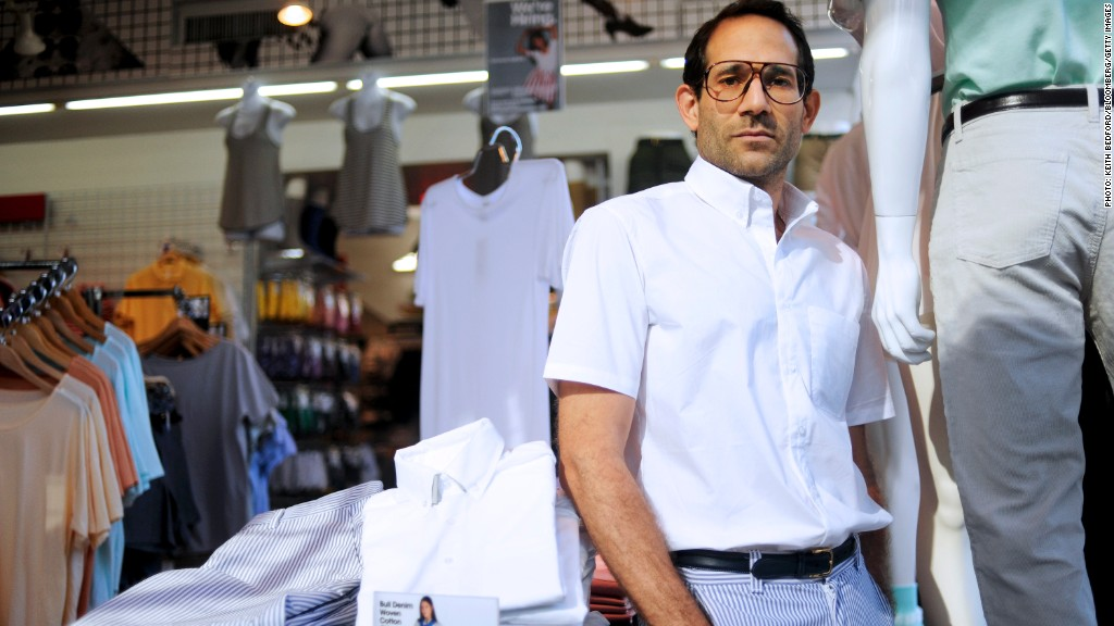 American Apparel CEO Dov Charney stand for a portrait in one of the company's store in New York, Thursday, July 29, 2010. Keith Bedford/Bloomberg News