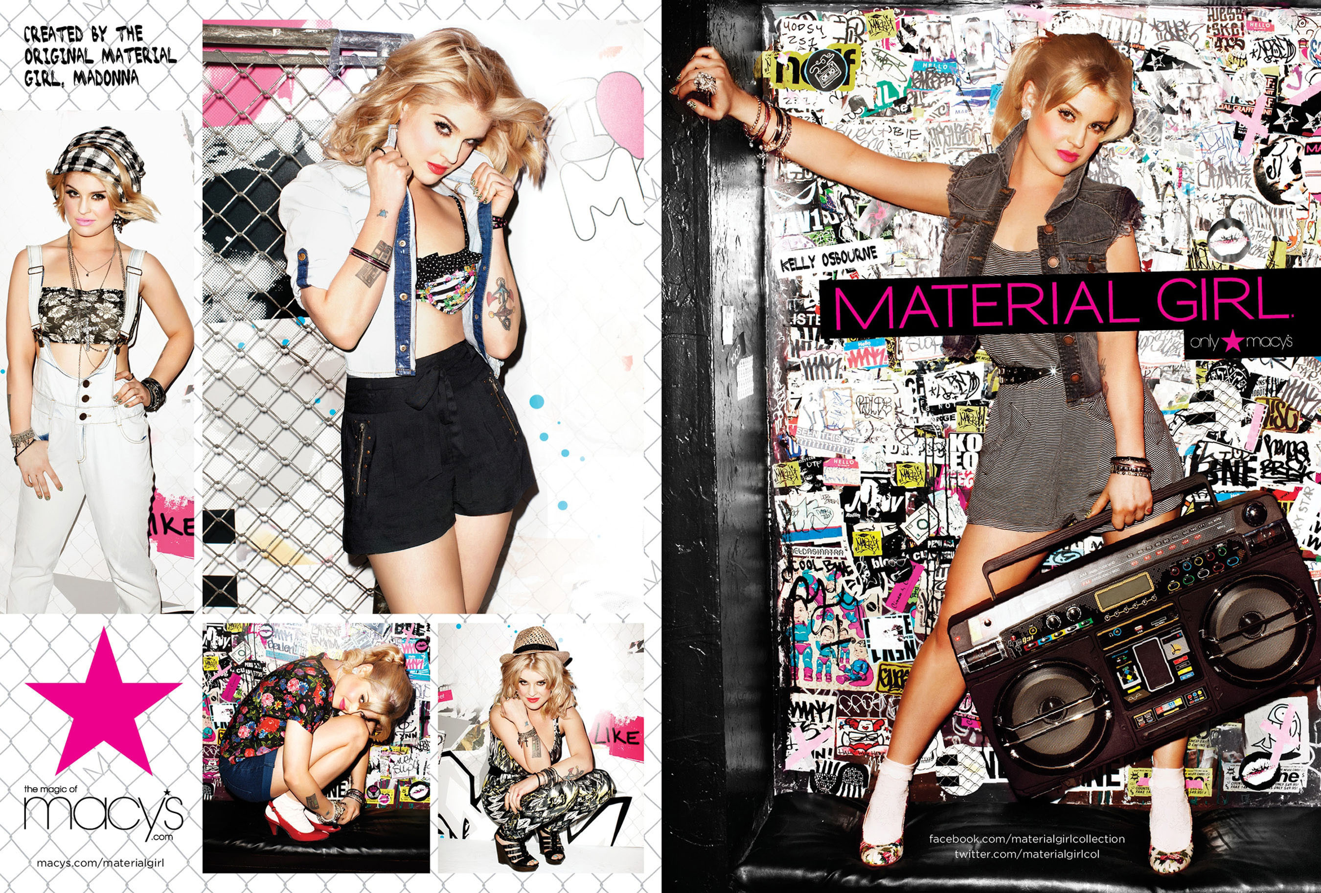 MG Icon, the joint venture between Madonna and Iconix Brand Group, Inc. unveiled today its spring 2011 marketing campaign for its Material Girl brand featuring actress, television host and musician, Kelly Osbourne. Material Girl is available exclusively at Macy's and macys.com in the United States. Follow Material Girl on Twitter at www.Twitter.com/MaterialGirlCol. (PRNewsFoto/Iconix Brand Group, Inc.)