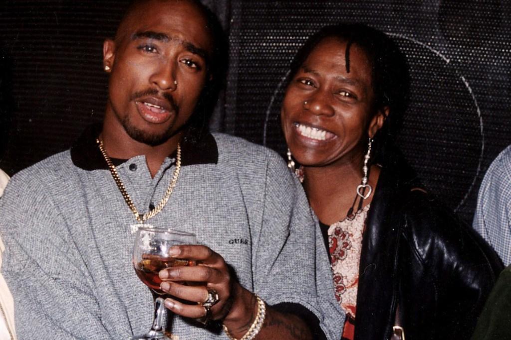 Tupac Shakur With Mother Afeni Shakur