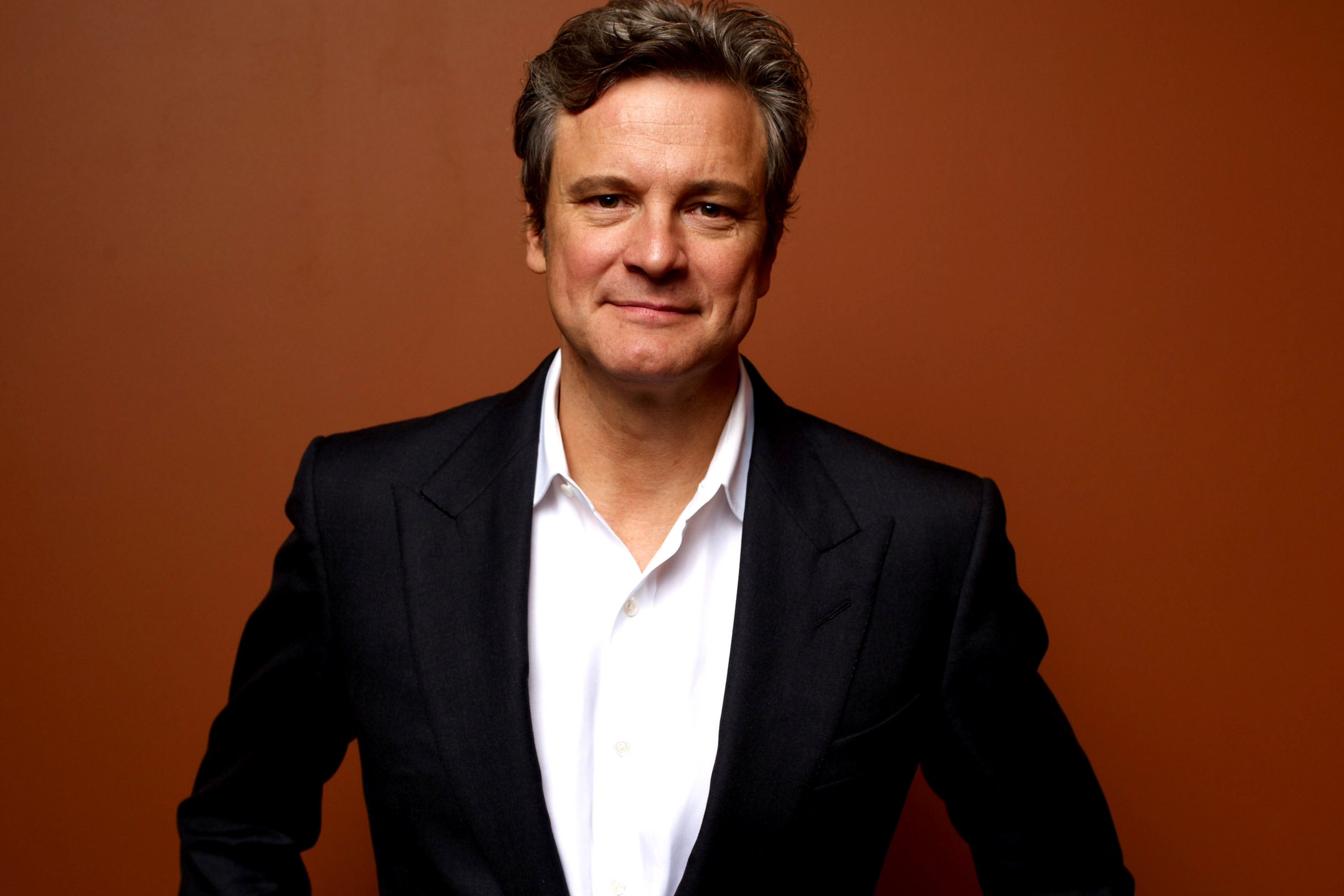 "TORONTO, ON - SEPTEMBER 10:  Actor Colin Firth of ""Arthur Newman"" poses at the Guess Portrait Studio during 2012 Toronto International Film Festival on September 10, 2012 in Toronto, Canada.  (Photo by Matt Carr/Getty Images)"