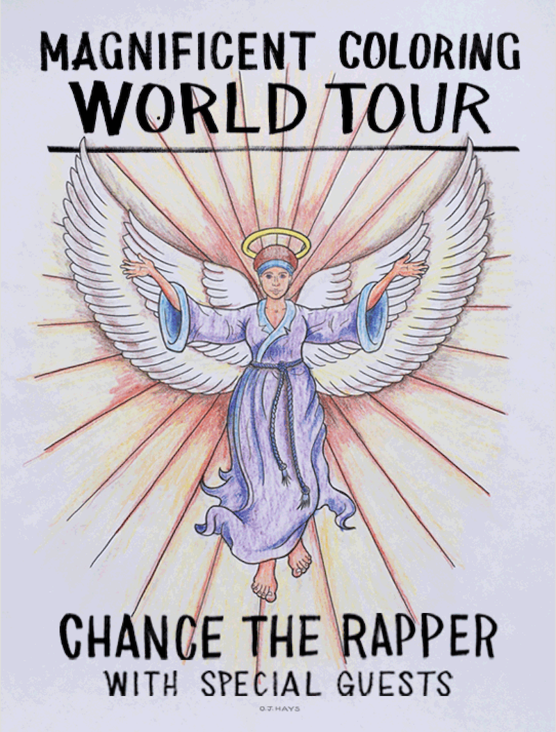 Chance the rapper reveals his magnificent colouring book Coloring book chance the rapper