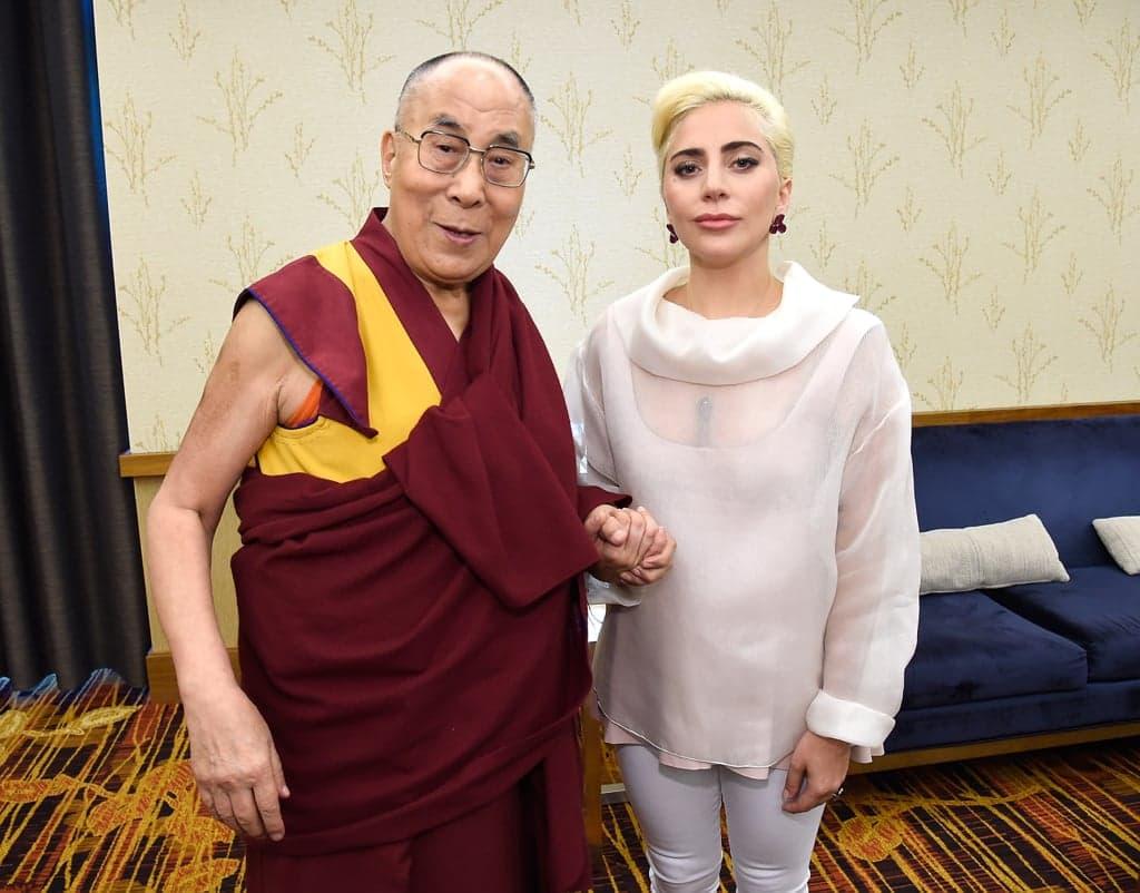 Lady Gaga and Dalai Lama