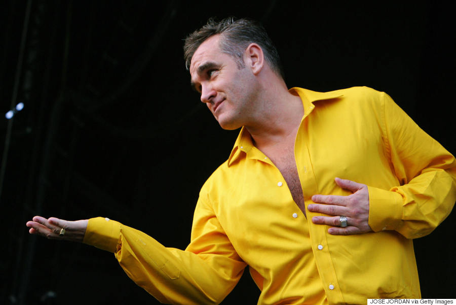 Benicasim, SPAIN: British singer Steven Patrick Morrissey performs during the Benicasim International Festival (FIB) 22 July 2006. AFP PHOTO/ JOSE JORDAN (Photo credit should read JOSE JORDAN/AFP/Getty Images)
