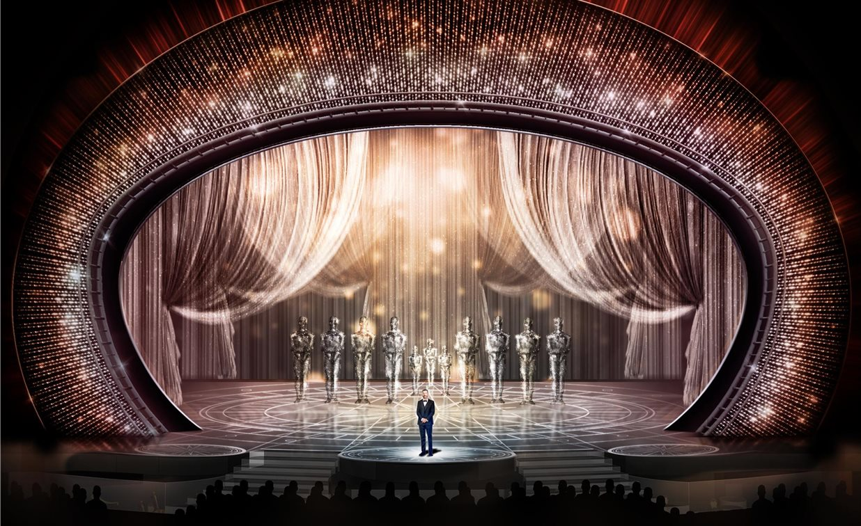 The sparkliest oscars stage yet film news for Tisch design for stage and film
