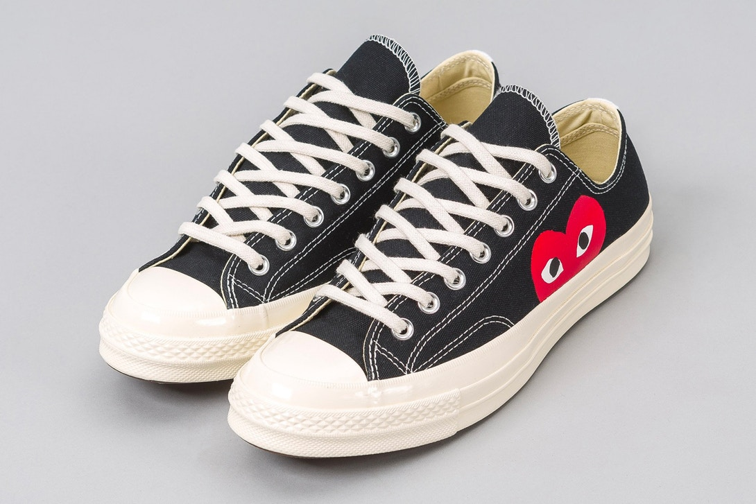 9bba3b17fa2c Japanese fashion label Comme des Garçons have collaborated with Converse  for a new version of the classic Chuck Taylor 70 s.
