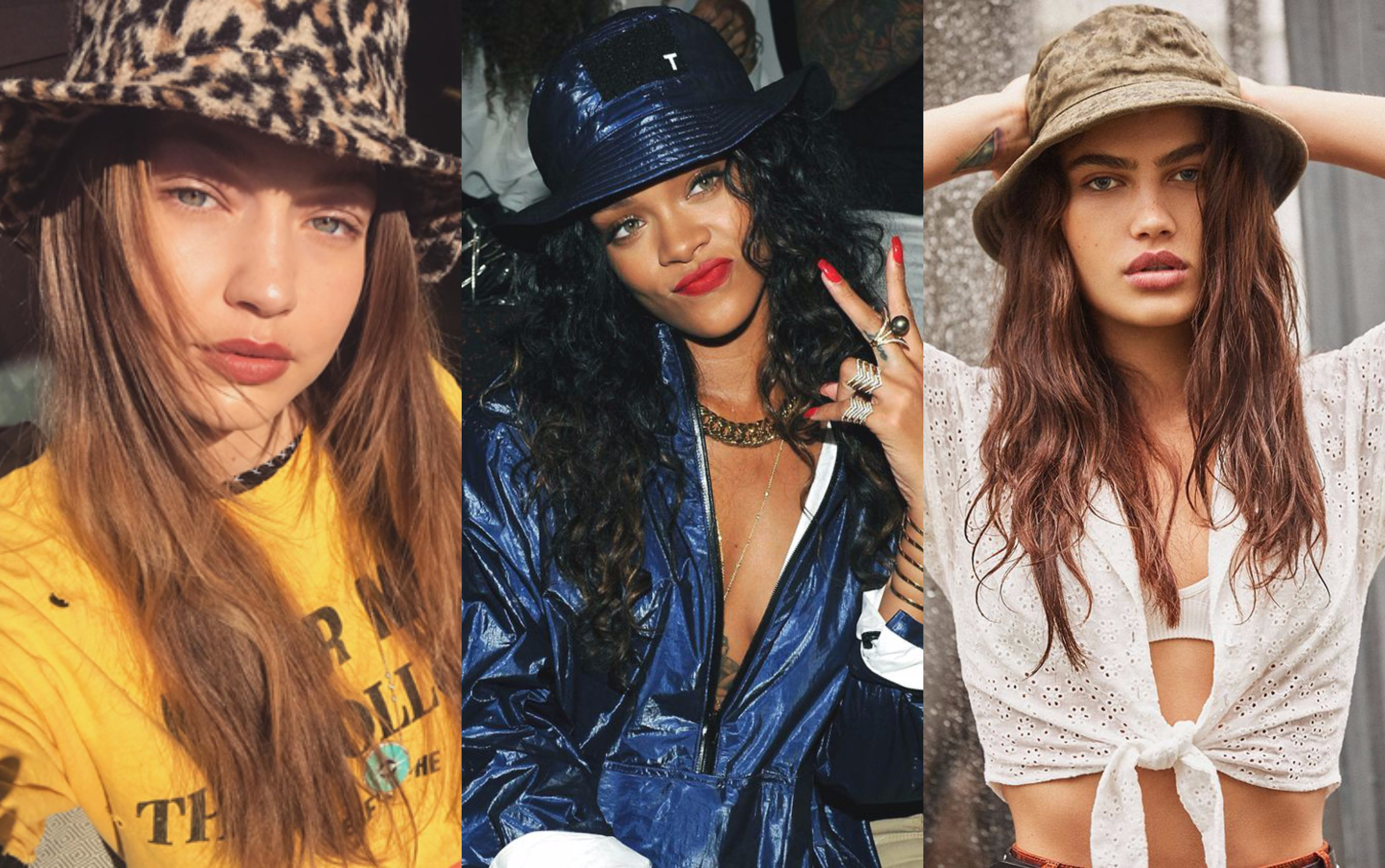 f2d13cdc Though certainly a controversial style, bucket hats have made their way  back into popularity within fashion. As the 90's revival continues to  dominate the ...