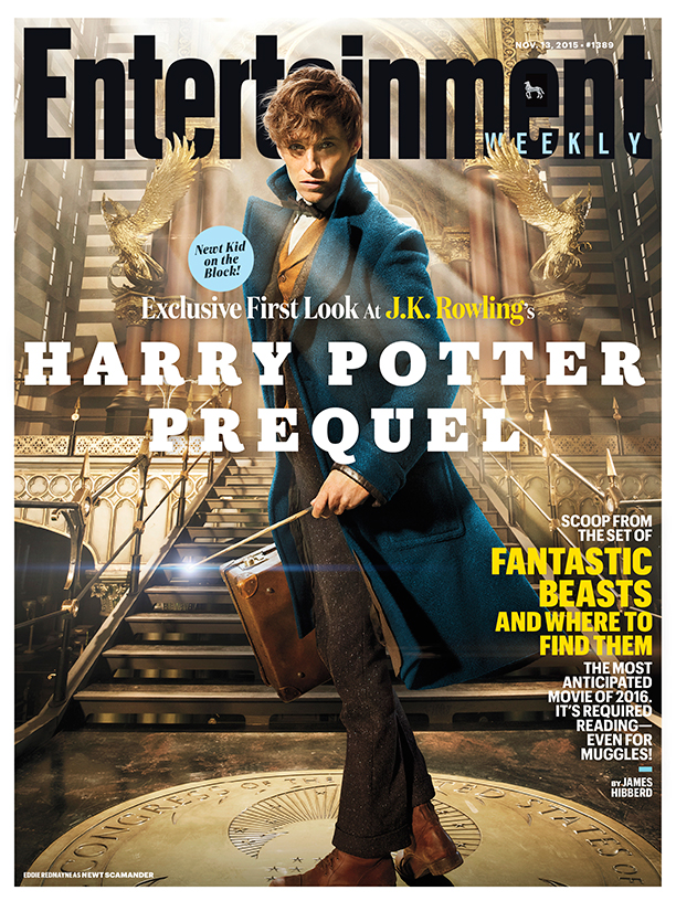 Looking good! Eddie Redmayne as he appears on the front cover of Entertainment Weekly.