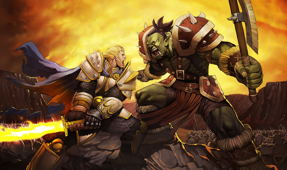 WoW-Orc-vs-Paladin