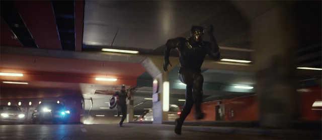 black panther running civil war