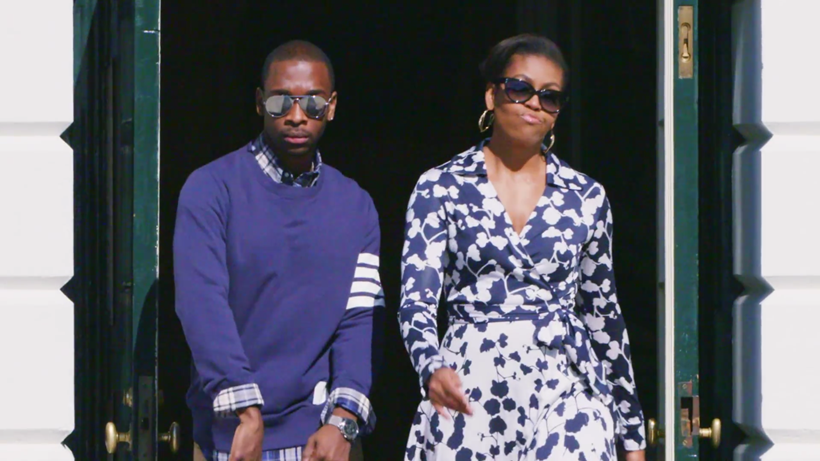 Michelle Obama and Jay Pharoah