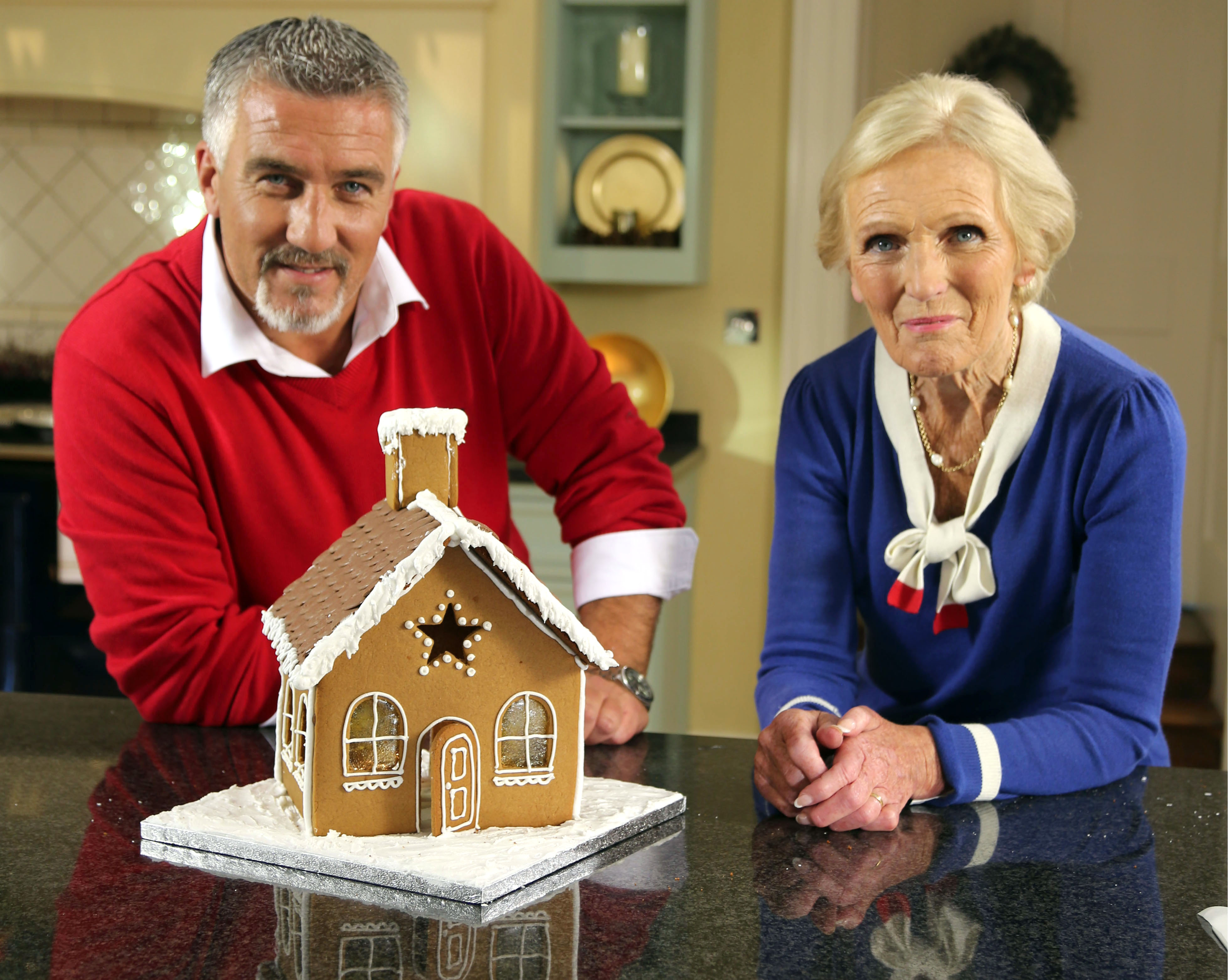 Programme Name: Great British Bake Off Christmas Special 2013 - TX: 17/12/2013 - Episode: n/a (No. n/a) - Embargoed for publication until: n/a - Picture Shows: (L-R) Paul Hollywood, Mary Berry - (C) Love Productions - Photographer: Production