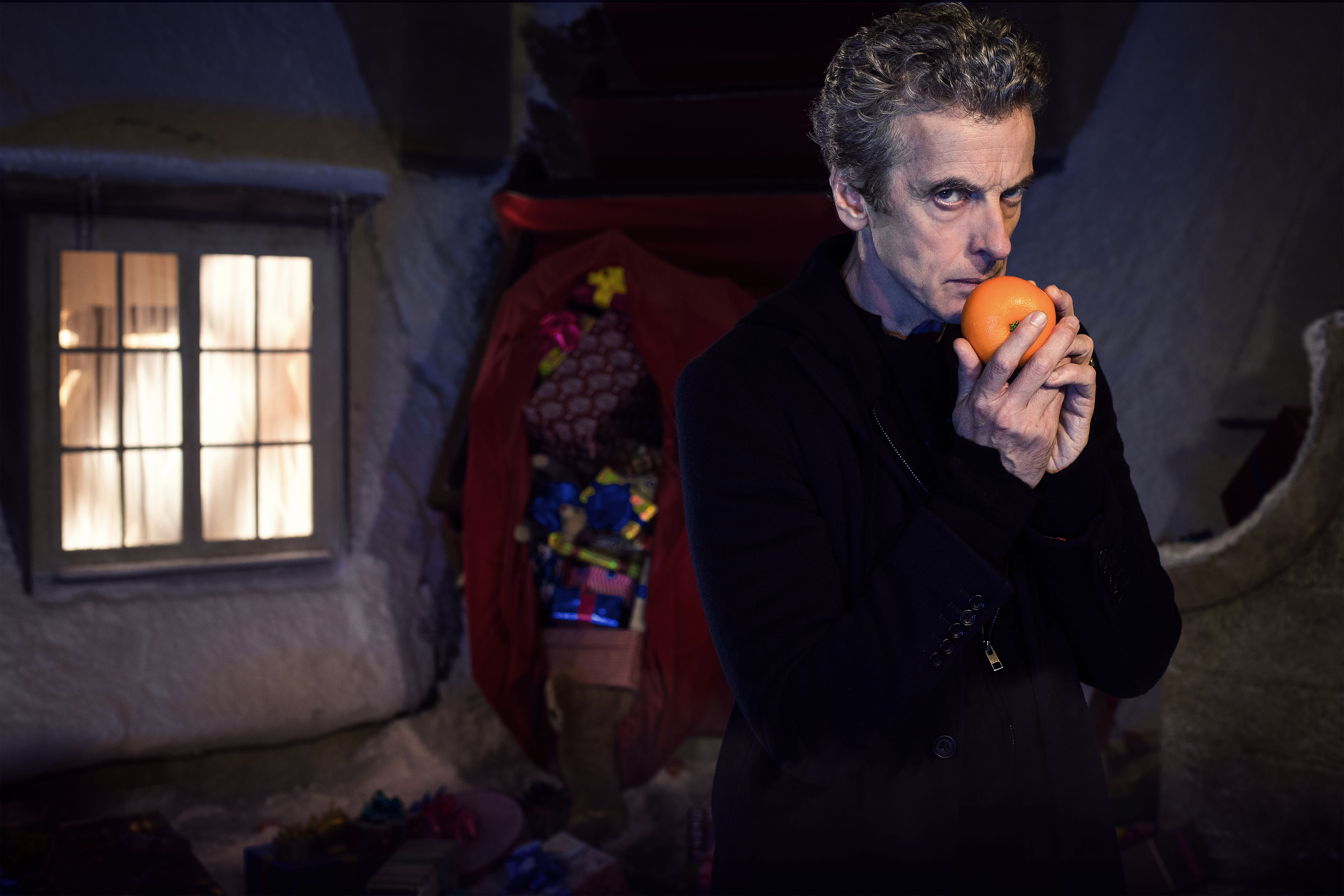WARNING: Embargoed for publication until: 06/12/2014 - Programme Name: Doctor Who Christmas Special - TX: 25/12/2014 - Episode: Last Christmas, written by Steven Moffat (No. 1) - Picture Shows: ***EMBARGOED UNTIL 6th Dec 2014*** Doctor Who (PETER CAPALDI) - (C) BBC - Photographer: David Venni