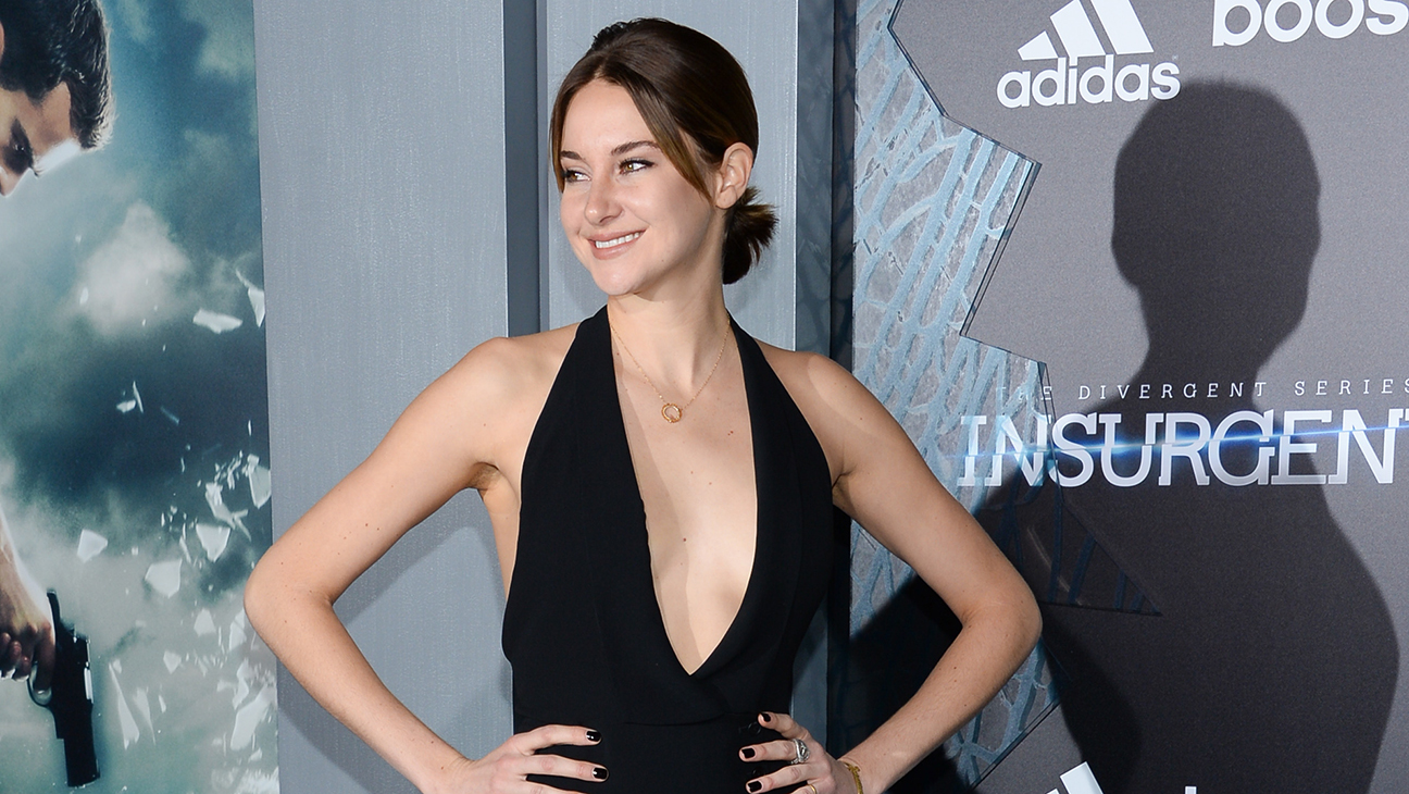 """Actress Shailene Woodley attends the premiere of """"The Divergent Series: Insurgent"""" at the Ziegfeld Theatre on Monday, March 16, 2015, in New York. (Photo by Evan Agostini/Invision/AP)"""