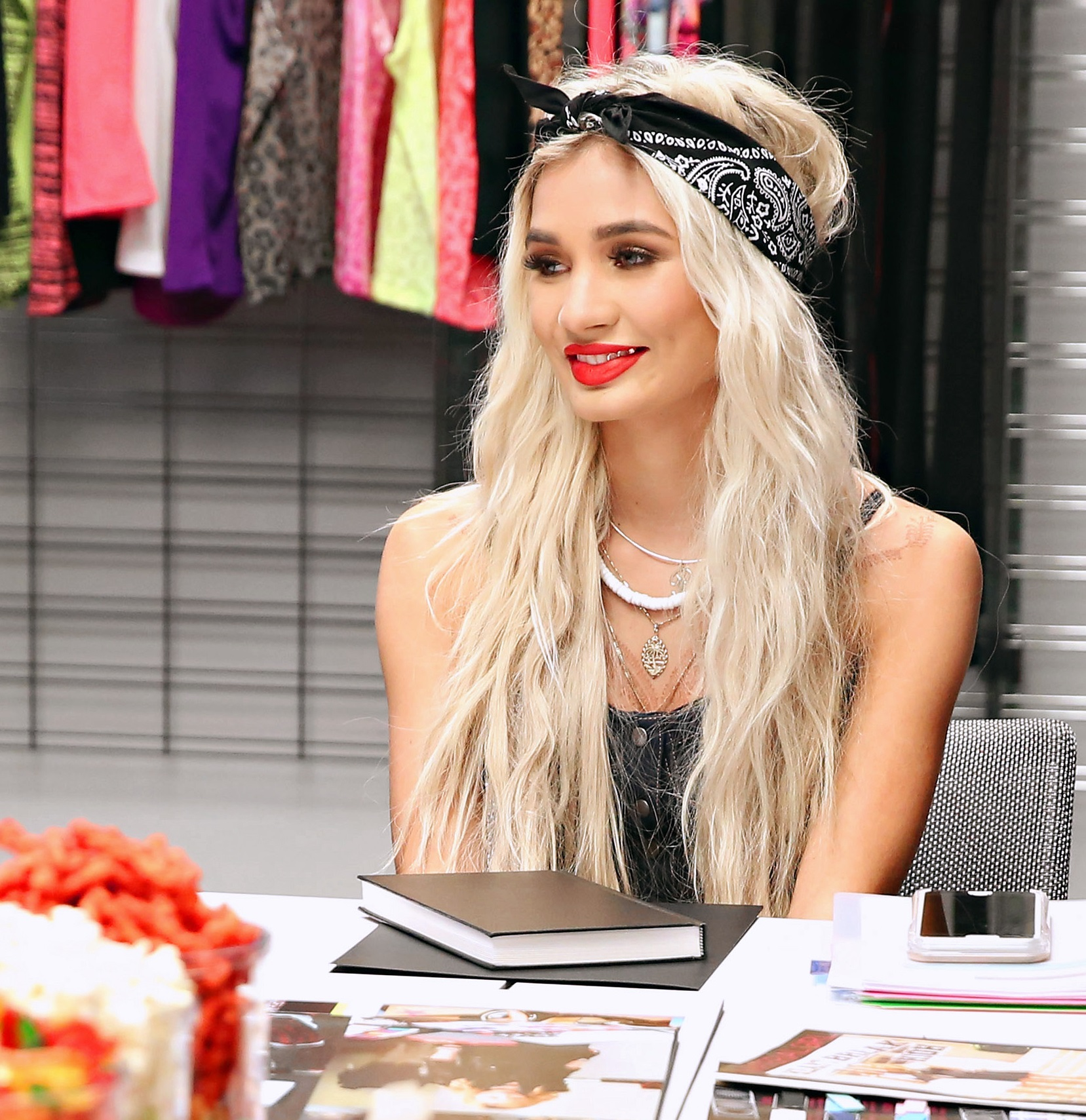 """""""NEW YORK, NEW YORK - APRIL 05: Pia Mia at the Material Girl design meeting on April 5, 2016 in New York City. (Photo by Cindy Ord/Getty Images)"""""""