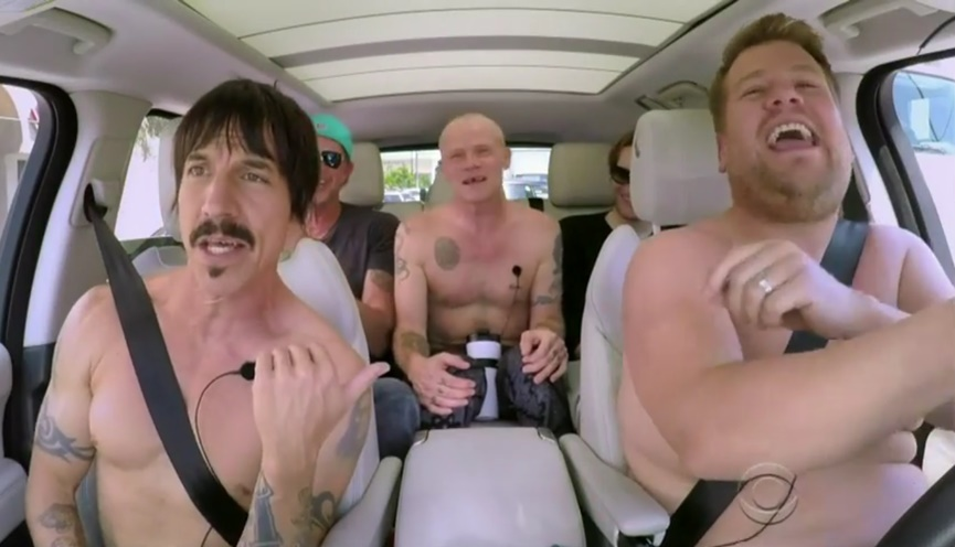 Red Hot Chili Peppers and James Corden