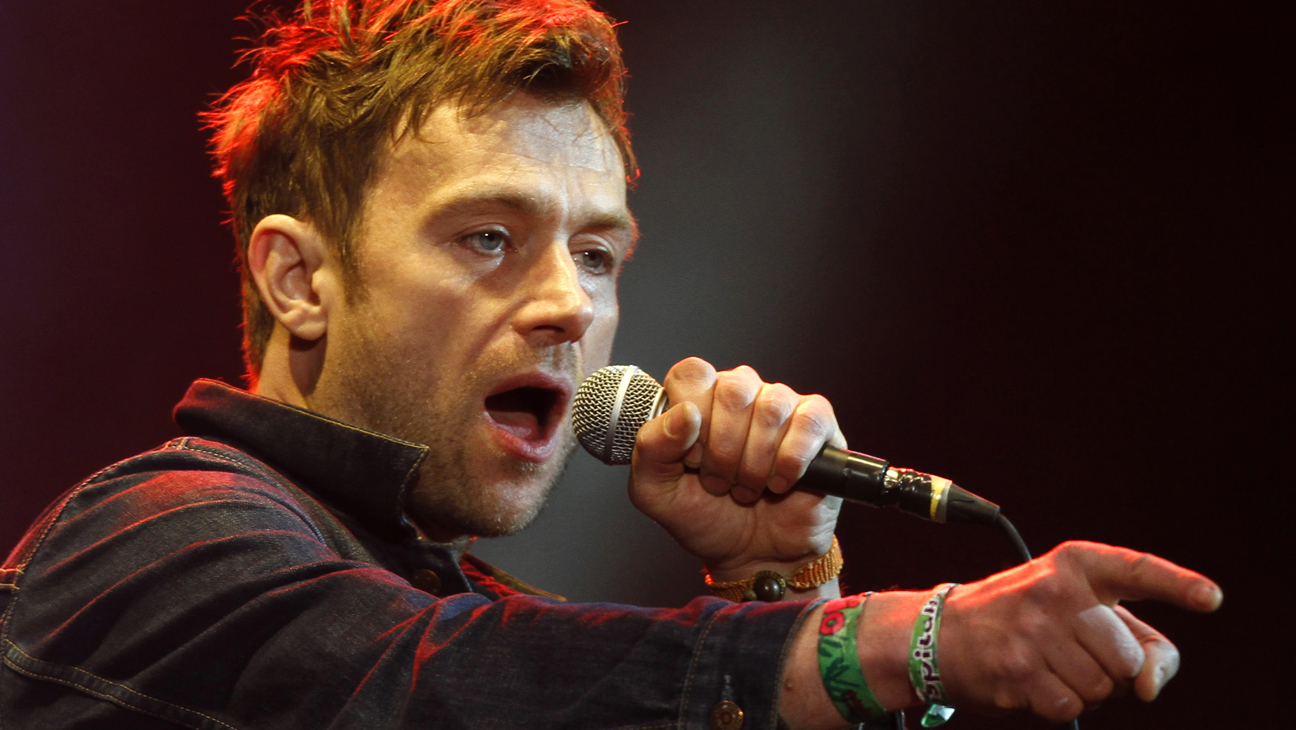British Damon Albarn, lead vocalist for the band Blur, performs at the Vive Latino music festival in Mexico City, Saturday, March 16, 2013. The 14th edition of the three-day music festival was inaugurated on Friday. (AP Photo/Marco Ugarte)