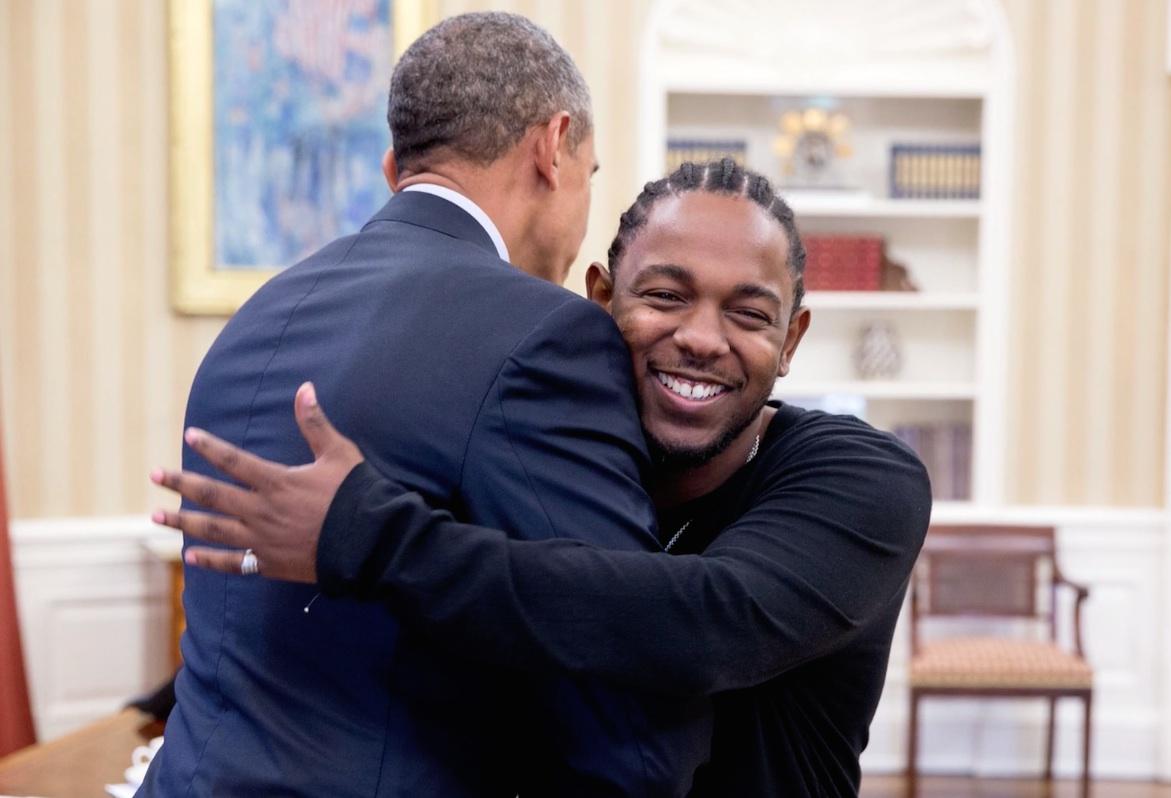 Obama and Kendrick Lamar